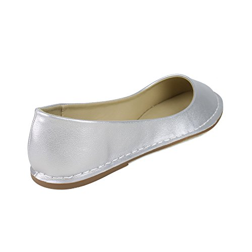 TOI ET MOI Womens SAVARIN-01 Round-toe casual flats Silver rHrp8gkW