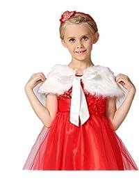 Shop Ginger Wedding Flower Girl Faux Fur Wraps Cape Kids First Communion C5