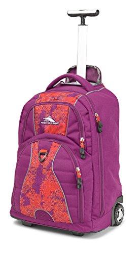 High Sierra Freewheel Laptop Backpack, Berry Blast/Moroccan Tile/Redline (Berry Tiles)