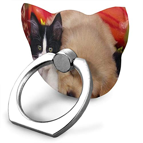 Ring Stand Holder Cat Shape Adjustable 360° Rotation Friend Dogs Animals Cats Cell Phone Stand Fit Phone X/6/6s/7/8/8 Plus/7, Galaxy, Android, Smartphone