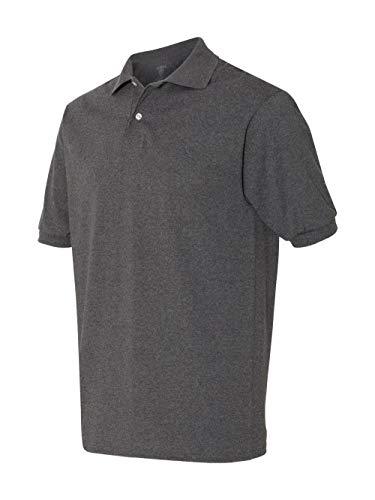 (Jerzees Mens SpotShield Short Sleeve Jersey Sport Shirt, JZ437MSR, L)