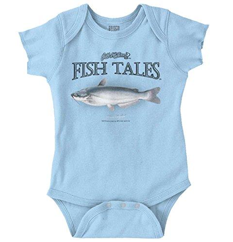 Brisco Brands Gill McFinn Blue Catfish Fisherman Outdoor Romper Bodysuit