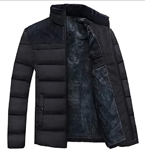 Coat Black security Fleece Casual Down Jacket Lined Parka Outerwear Men's Puffer azqvZ