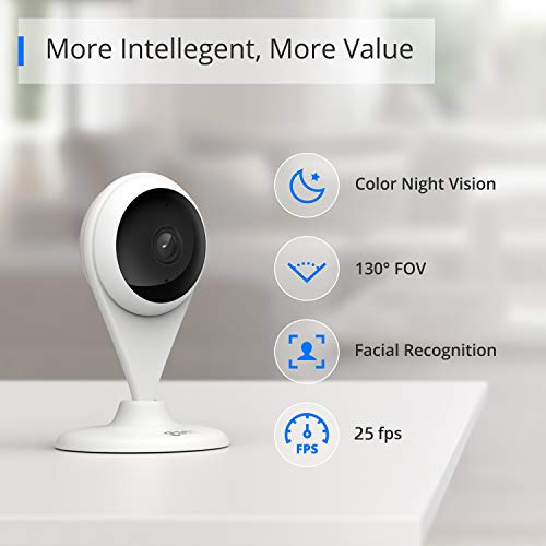 360 AC1C Security Camera AI Version, Indoor 1080P, Face Recognition, Color Night Vision,Human Detection, Motion Detection, Activity Zones, Cloud and Local Storage