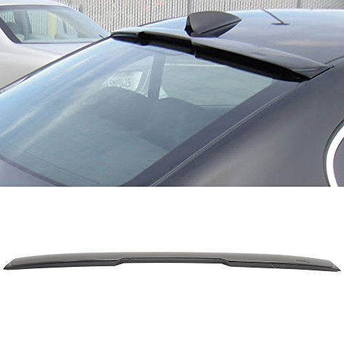 Roof Spoiler Fits 2004-2010 BMW E60 5-Series Sedan 4Dr 4Door | Unpainted ABS Rear AC Style - Other Color Available Rear Trunk Tail Spoiler Wing by IKON MOTORSPORTS | 2005 2006 2007 2008 (2004 Roof)