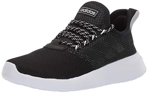 adidas Women's Lite Racer Reborn Running Shoe, Black/Grey, 7.5 M US (Womens Addidas Tennis Shoe)