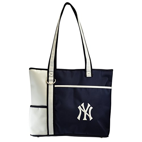 MLB New York Yankees Tote Bag with Embroidered Logo ()
