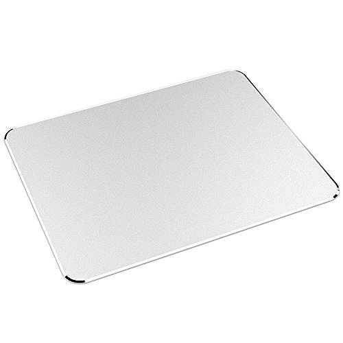UPC 712201007596, Nulaxy Aluminum Non-Slip Rubber Base and Micro Sand Blasting Gaming Mouse Pad, Silver (YC-0450)