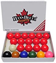 Han's Delta Professional Snooker Ball Set, 2 1/16-Inch, Complete 22 Ball