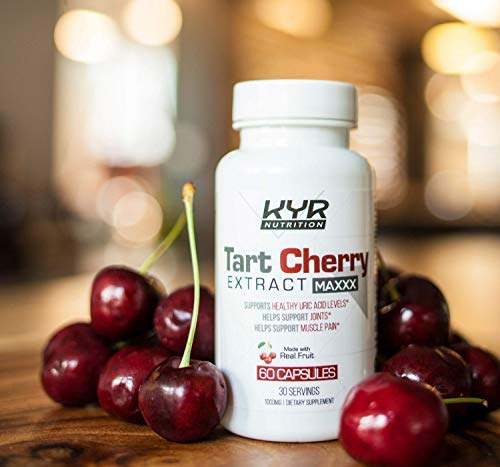 KYR Tart Cherry Extract Capsules with Celery Seed-Flush Excess Uric Acid Providing Joint Comfort, Healthy Sleep and Muscle Recovery -Our Most Effective polyphenols Supplement ever-60 Veg Cap (3 Pack) by KyRush It (Image #4)