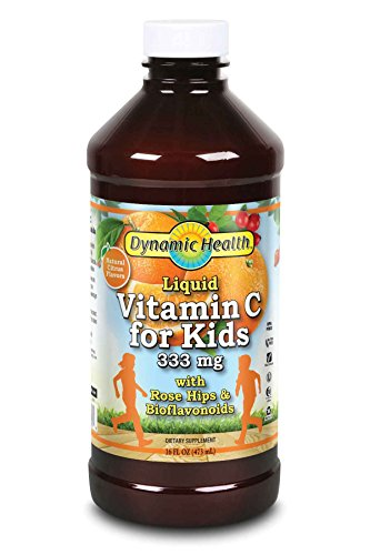 Dynamic Health Labs. 333 mg Liquid Vitamin C Herbal Supplements for Kids, 16 Ounce