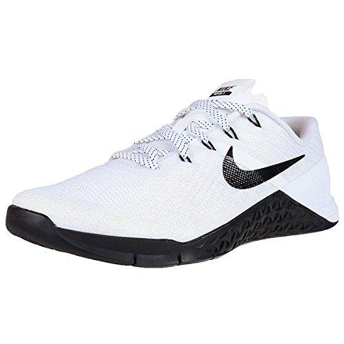 Nike WOMENS METCON 3 CROSS TRAINING SHOES WHITE BLACK 849807 100, White/Black, 35.5 B(M) EU/2.5 B(M) UK