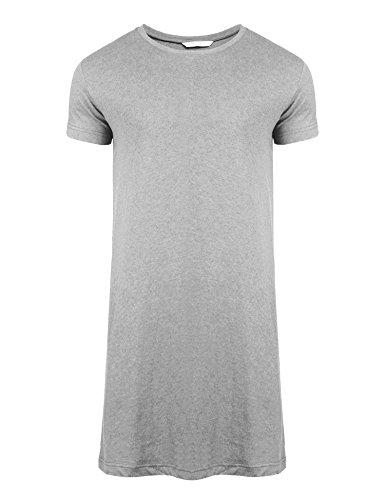 Ekouaer Mens Cotton Nightshirt Big   Tall Stripe Henley Sleep Shirt  Sleepwear 83dcd5fa1