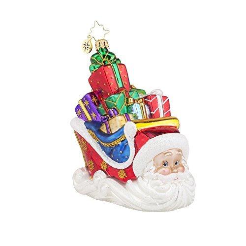 Christopher Radko Sleighing Santa Glass Christmas Ornament - 5.5h. by Christopher Radko