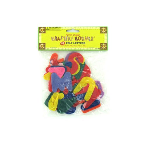 Crafting Felt Letters 24/Pack (4 Pack)