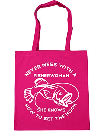 HippoWarehouse - Bolsa de playa de Algodón  Mujer fucsia
