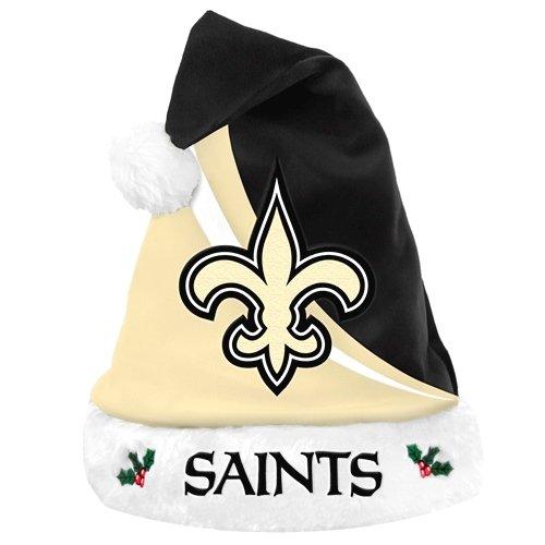 FOCO New Orleans Saints Swoop Logo Santa Hat -