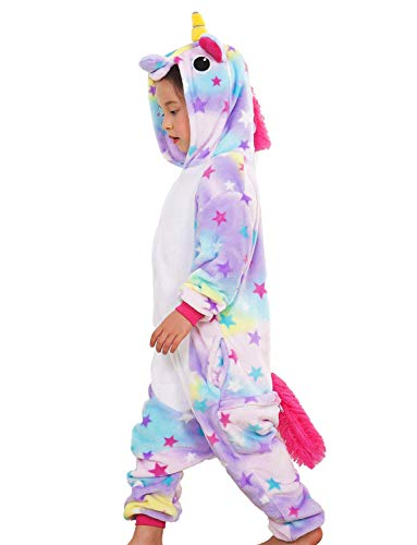 Boys Unicorn Onesie Animal Pajamas Sleepwear Purple Cosplay Costume 2911abe06
