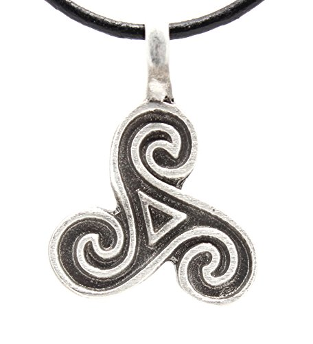 of Life Celtic Pagan Pendant on Leather Necklace (Surf Surfer Leather Necklace)