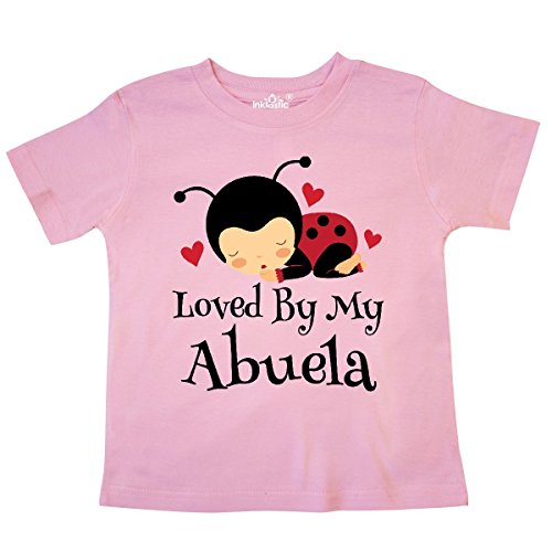 - inktastic - My Abuela Loves Me Ladybug Toddler T-Shirt 4T Pink 309a1