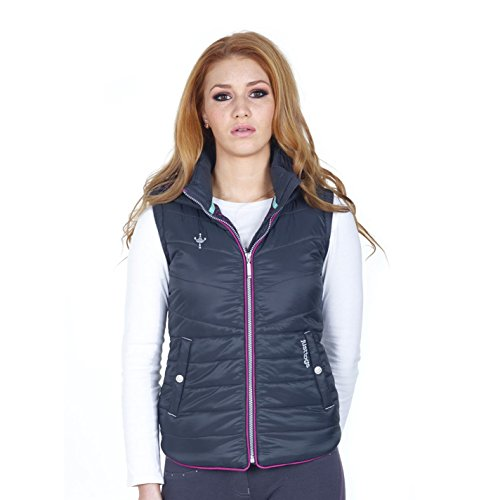 Just Togs Ascot Damen Weste Reitjacke Reitsport Winddicht Aermellos Jacke Reitsport Grau Size 12