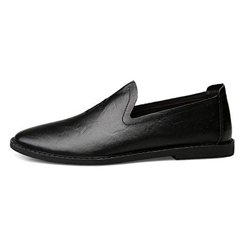 r Hombres Para Los Los Clásicos De Comerciales Negro De Los Oficiales Ocasionales Zapatos Zapatos Yr Cuero De Regalos Hombres Aw7dTA