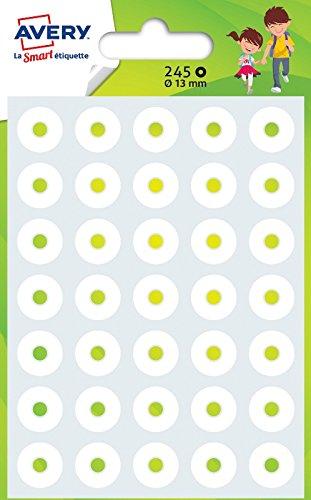 Avery - Bustina di 245 salvabuchi rafforzanti, ø 13 mm, rif: OEIL245, colore: Bianco Avery Tico Srl