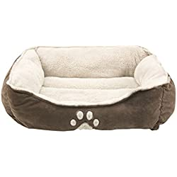Sofantex Pet Bed - Fit Medium Sized Dog/Fat Cat, Machine Washable, Ultra Soft Pet Sofa - Dark Coffee