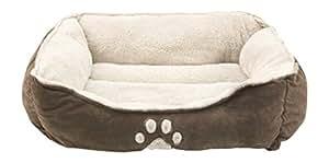 Sofantex Pet Bed - Fit Medium Sized Dog / Fat Cat, Machine Washable, Ultra Soft Pet Sofa - Dark Coffee