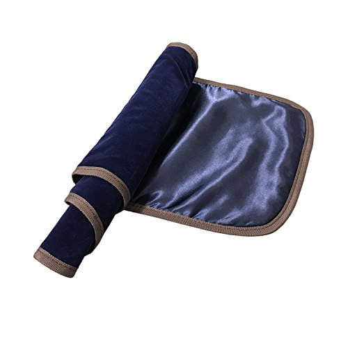 Luxurious Hand Made Satin Fabric Violin Blanket for 4/4 Full Size Violin (Blue Satin)