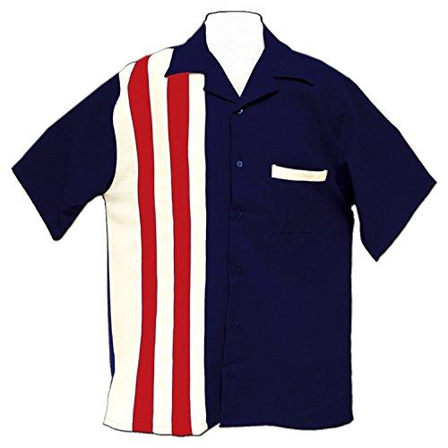 Tutti Retro Bowling Shirt America (XL) (Bowling Shirt Classic)