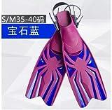 ESFSWFT Adjustable Soft Swimming Fins One Pair Diving Necessity Webbed Feet gem Blue S/M