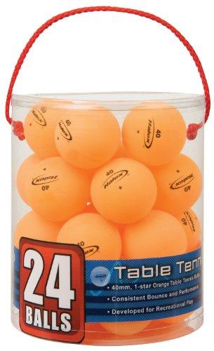 [Halex 59125 Velocity 24-Count Tub of Table Tennis Balls, 1 Star (Orange)] (24 Ct Tub)