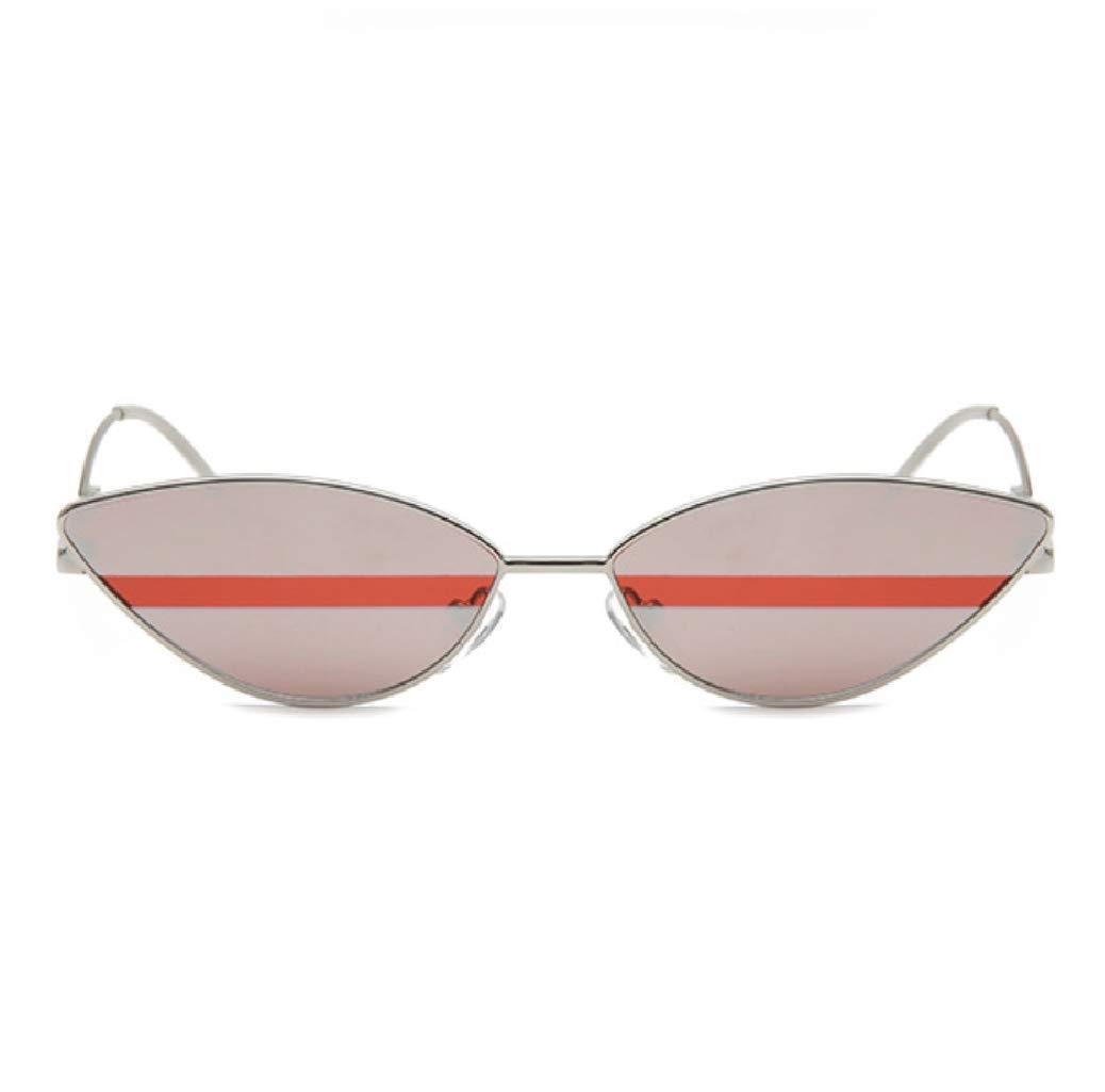 Small Frame Skinny Cat Eye Sunglasses for Women Mini Narrow Oval Retro Cateye Vintage Sunglasses by W&Y YING C1 (Red Stripe)