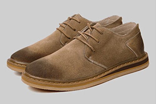 Tda Herenmode All-leder Working Leisure Oxford Schoenen Kaki