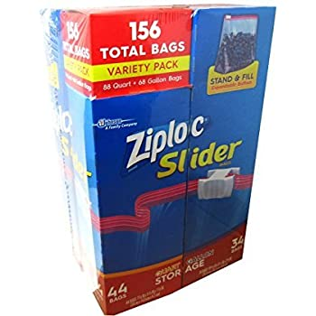 Amazon Com Ziploc Easy Zipper Variety Pack 140 Bags