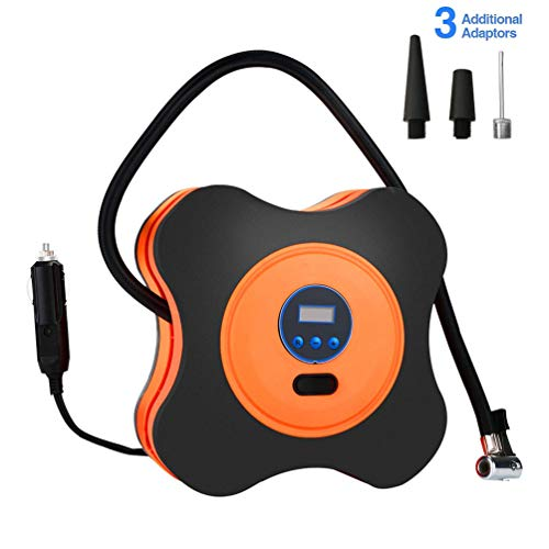 Car Air Pump, ABS Portable Intelligent Air Compressor Tyre Pump with Four-Leaf Clover Design for Swimming Ring Basketball Toy: Amazon.co.uk: Welcome