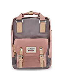 Cool Style School Backpack Oxford Fabric Backpack for High School/College Student Elegant Casual Daypacks Outdoor Sports Rucksack School Shoulder Bag for Men/Women 15.6Inch MacBook by DEARFUN(Black)