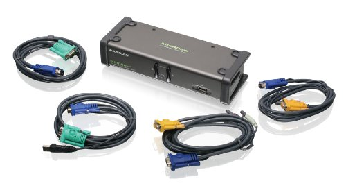 - IOGEAR 2-Port Dual View KVM Switch with Audio and USB Peripheral Sharing, w/Full Set of Cables, (GCS1742 TAA Compliant)