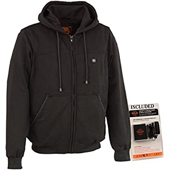 Milwaukee Performance-Men's Heated Hoodie w/Front&Back Heating Elements-BATTERY PACK INCLUDED-BLACK-Large