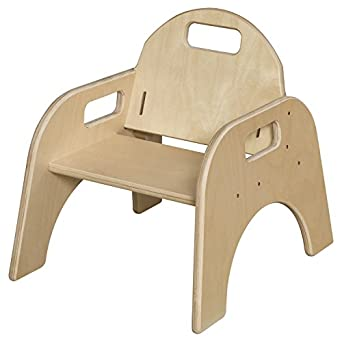 Amazoncom Wood Designs Stackable Woodie Toddler Chair 7 High