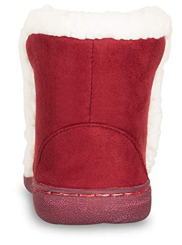 d5d4b095931 Floopi Womens Indoor Outdoor Bootie Slipper - Sherpa Fur Lined Clog W Memory  Foam