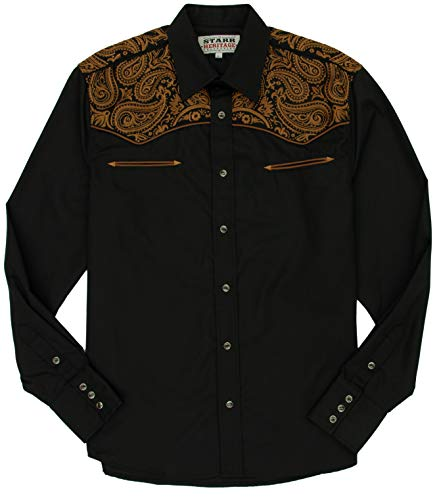 - STARR Heritage Vintage Embroidered Western Snap Shirt SHC001-5 | Fancy Paisley