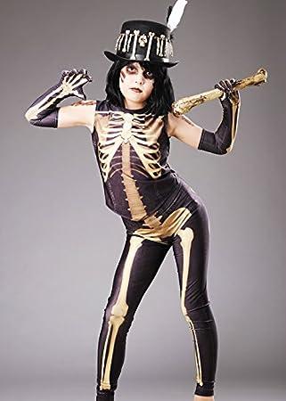 Magic Box Disfraz de Esqueleto de la Muchacha del vudú de ...