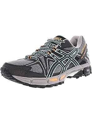 ASICS Womens Gel-Kahana 8 Running Shoe, Black/Ice Green/Hot Orange, 6 Medium US
