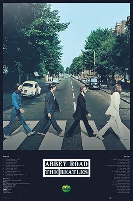 - The Beatles - Abbey Road Tracks Poster (24x36) PSA034213