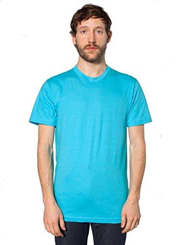 American Apparel Courtes T Turquoise À shirt Unisexe Manches rrH7xwZ4q