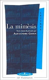 La Mimèsis par Alexandre Gefen