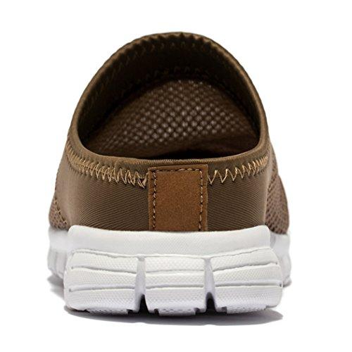 Brown Breathable Fendar Clog Women Slippers Lightweight Fendas Mesh Mules qXX8rvS4w