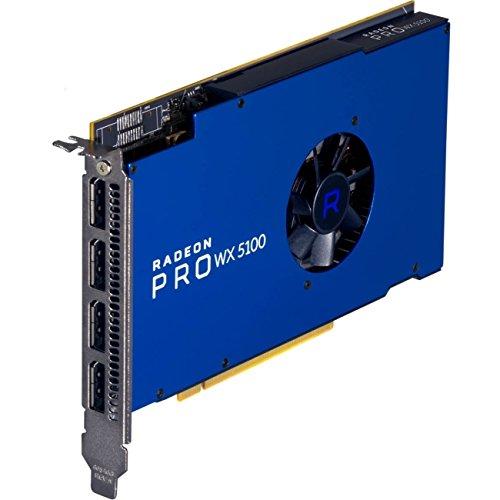 AMD 100-505940 Radeon Pro WX 5100 8GB GDDR5 4 DisplayPort's Workstation Video Card, Windows 10/7 & Linux (64-bit) by AMD
